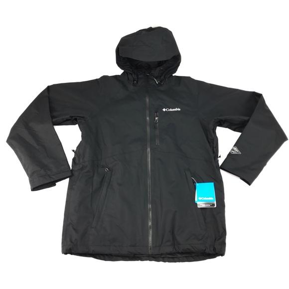 "Tech Hooded Winter Jacket New Mens Columbia /""Winter Park Pass II/"" Omni-Heat"